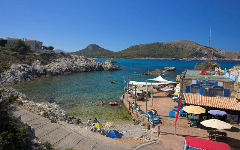 Strand cala lliteras auf mallorca ostk ste for Design hotel mallorca strand