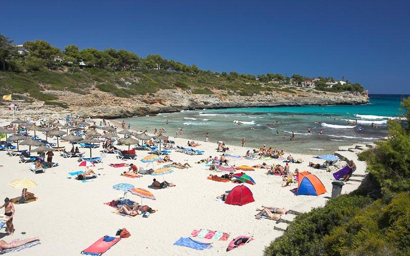 Mallorca Karte Strande.Strand Cala Mandia Auf Mallorca Ostkuste